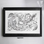 ARLETTE-ESS-foxes-artprint-framed