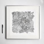 ARLETTE-ESS-sleeping-dogs-bw-artprint-framed1