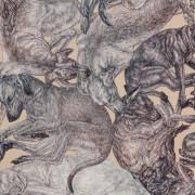 ARLETTE-ESS-sleeping-dogs-sand-90x90cm-detail