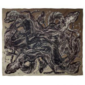 arlette-ess-fox-fur-print-silk-scarf-khaki