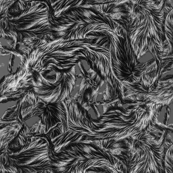 fox fur print in monochrome by Arlette Ess
