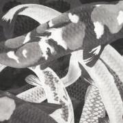 ARLETTE-ESS-Koi-monochrome-woolscarf-140x140cm-detail