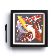 ARLETTE-ESS-koi-2-color-artprint-framed