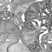 ARLETTE ESS-sleeping-dogs-bw-artprint-detail