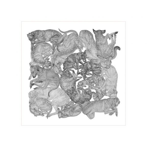 ARLETTE-ESS-sleeping-dogs-bw-artprint-frame