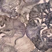 ARLETTE-ESS-sleeping-dogs-rosequartz-90x90cm-detail