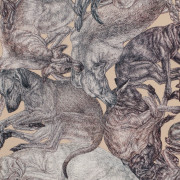 ARLETTE-ESS-sleeping-dogs-sand-90x90cm-detail