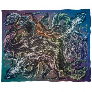 Arlette-Ess-foxes-fur-toxic-silk-scarf