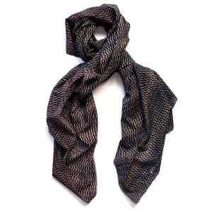 fish skin print scarf by Arlette Ess