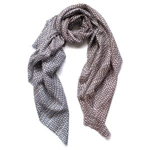 Fishskin print scarf by Arlette Ess