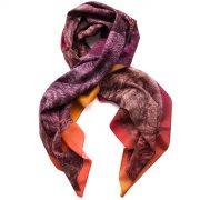 Red dog print scarf